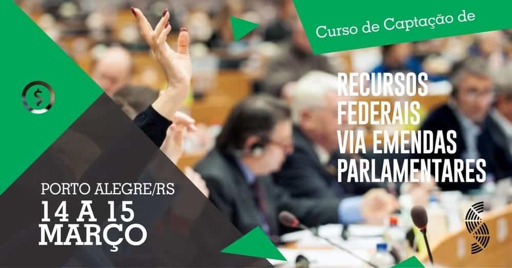 Curso de Captação de Recursos Federais via Emendas Parlamentares – Porto Alegre