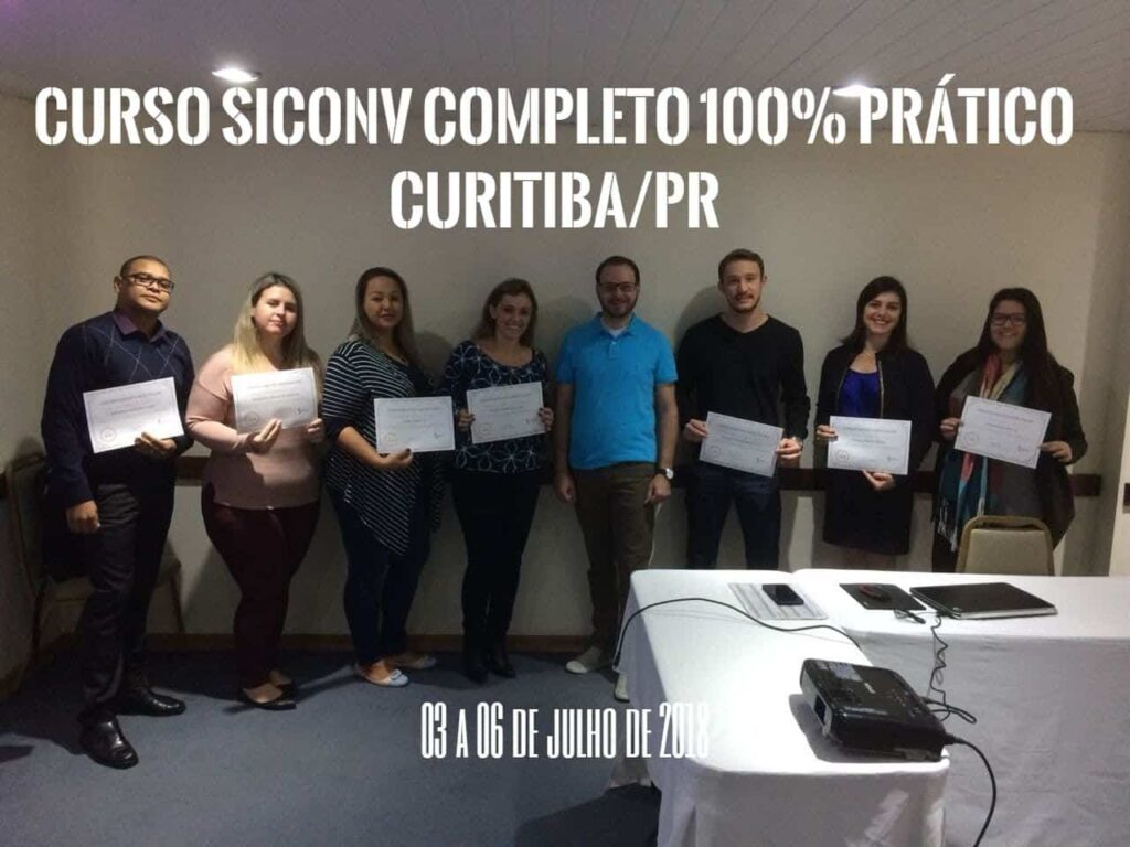 Curitiba/PR com Curso Completo do SICONV – Sistema de Convênios