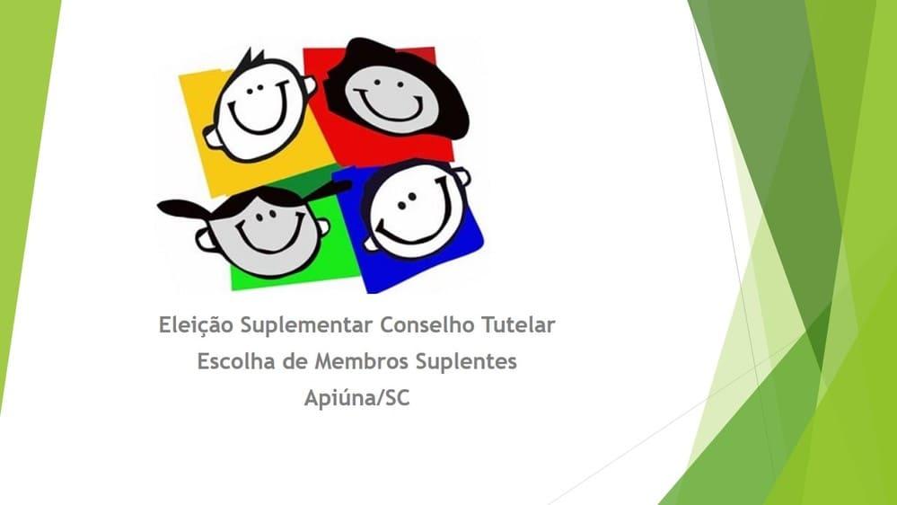Eleição Suplementar Conselho Tutelar Escolha de Membros Suplentes de Apiúna - SC