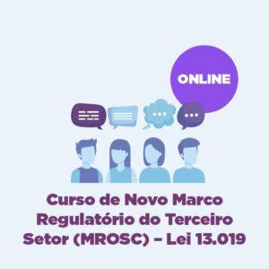 Curso de Novo Marco Regulatório do Terceiro Setor (MROSC) – Lei 13.019